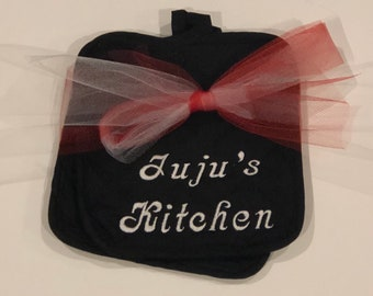 Personalized Embroidered Pot Holder Set