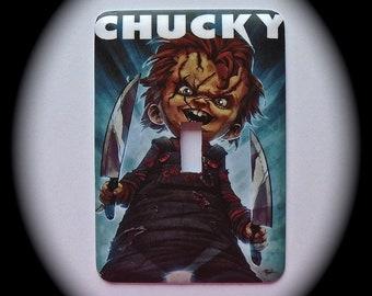 METAL Decorative Single Switch Plate ~ Chucky, Light Switchplate, Switch Plate Cover, Home Decor