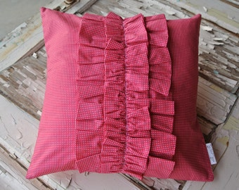 New Price!*** Ruffle Pillow- Hot Pink
