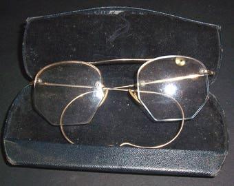 Pair of vintage eyeglasses, gold-filled frames
