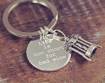 Wine Lover Keyring Girlfriends Christmas Gifts Personalized Engraved Keychain Wine Tasting Key Ring Key Chain