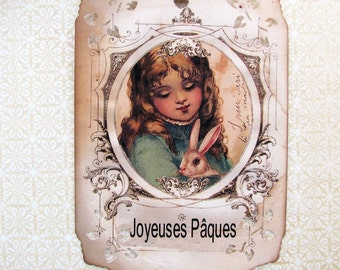 Paris Shabby French Easter Gift Tags