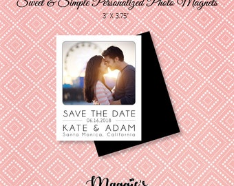 Save the Date Photo Magnets // FREE Shipping on all Orders