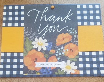 Thank you, Floral Seed packet Card