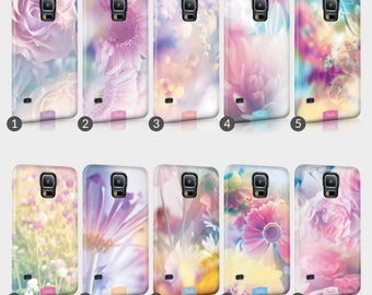 Floral Gradient Pastel Colours Flower Flowers Print Phone Case For Samsung Galaxy Grand & Note Full Wrap Hard Cover Gift aisy Vintage Retro
