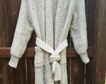 90's Era Duster Sweater with Belt Size Large