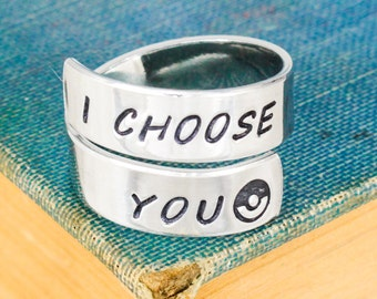 I Choose You Wrap Ring - Video Game Ring - Gamer Gift - Gifts for Gamers - Video Game Jewelry