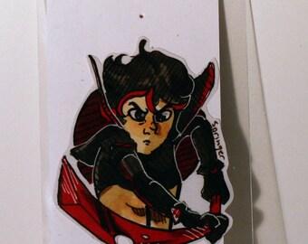 Ryuko Matoi Kill La Kill Inspired Hand-Made Stickers