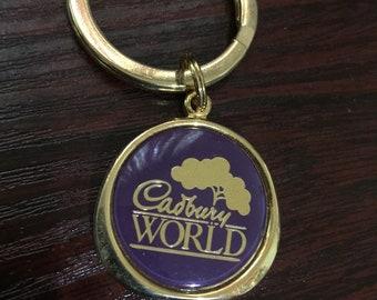 Cadburys World Gold Keychain/Keyring