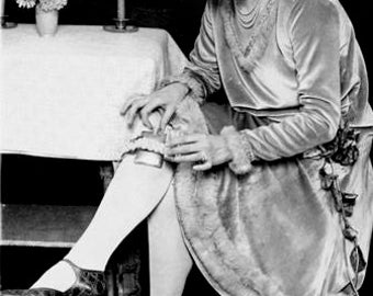 Flapper With Garter Flask 1920's Photo