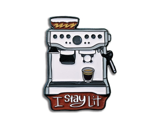 Lit Espresso Pin
