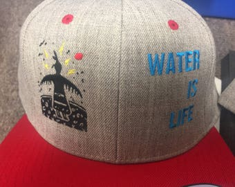 Water is Life I Stand with Standing Rock snapback hat #nodapl pipeline native water protectors water is sacred