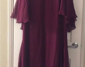 Melinda Eng burgundy vintage evening gown NWT Original 4,180 Neiman Marcus size 14