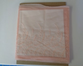 Exquisite Heirloom Vintage Lace panel Trim-Excellent for Doll and kids clothes- Pink-Peach color
