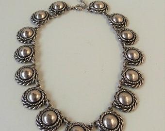 Vintage Silver Necklace Unique Boho Nordic Style