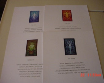 Beautifully Illustrated Elemental Wish Fullfillment Book of Shadow Pages (6 pages) (Read Description)