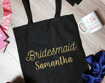 Bridesmaid Samantha Canvas Tote Bag | Bridesmaid Tote Bag | Bridesmaid Totes | Bridesmaid Accessory | Bcahelorette Party Totes | Bride Gifts
