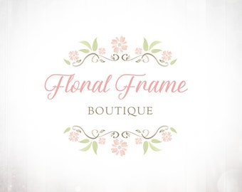 Premade Logo Design • Floral Watercolour