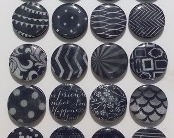 Black and White Fridge Magnets / Refrigerator Magnets / Magnet Set