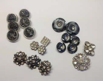 Vintage Button Collection, Old Buttons, Retro Buttons