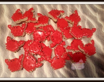 Mini Crab Decorated Sugar Cookies