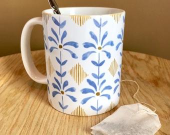 Ceramic Mug 11oz or 15 oz | Periwinkle Flowers |
