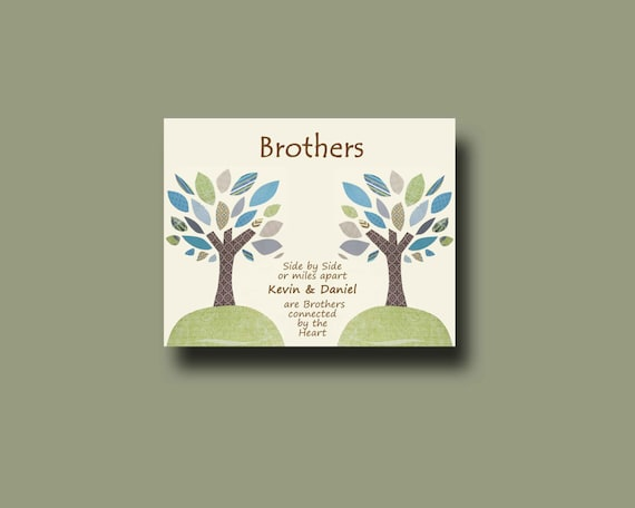 Brother Wedding Gift: Items Similar To Brother Gift Print