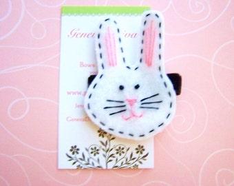 Mr. Bunny Handmade Felt Hairclip