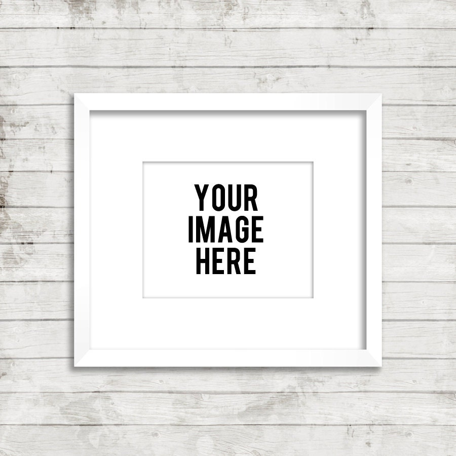 zoom - White Picture Frame