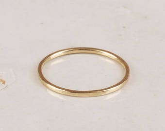 Gold Stacking Ring 1.2 mm