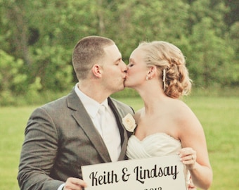 Personalized Wedding Sign - Names - Date