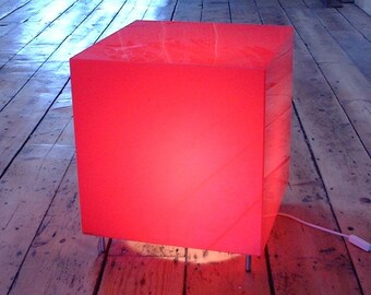 Lumicube T3 - illuminated Perspex  bed-side table | Cube lamp | Plexiglass | Lucite | Acrylic