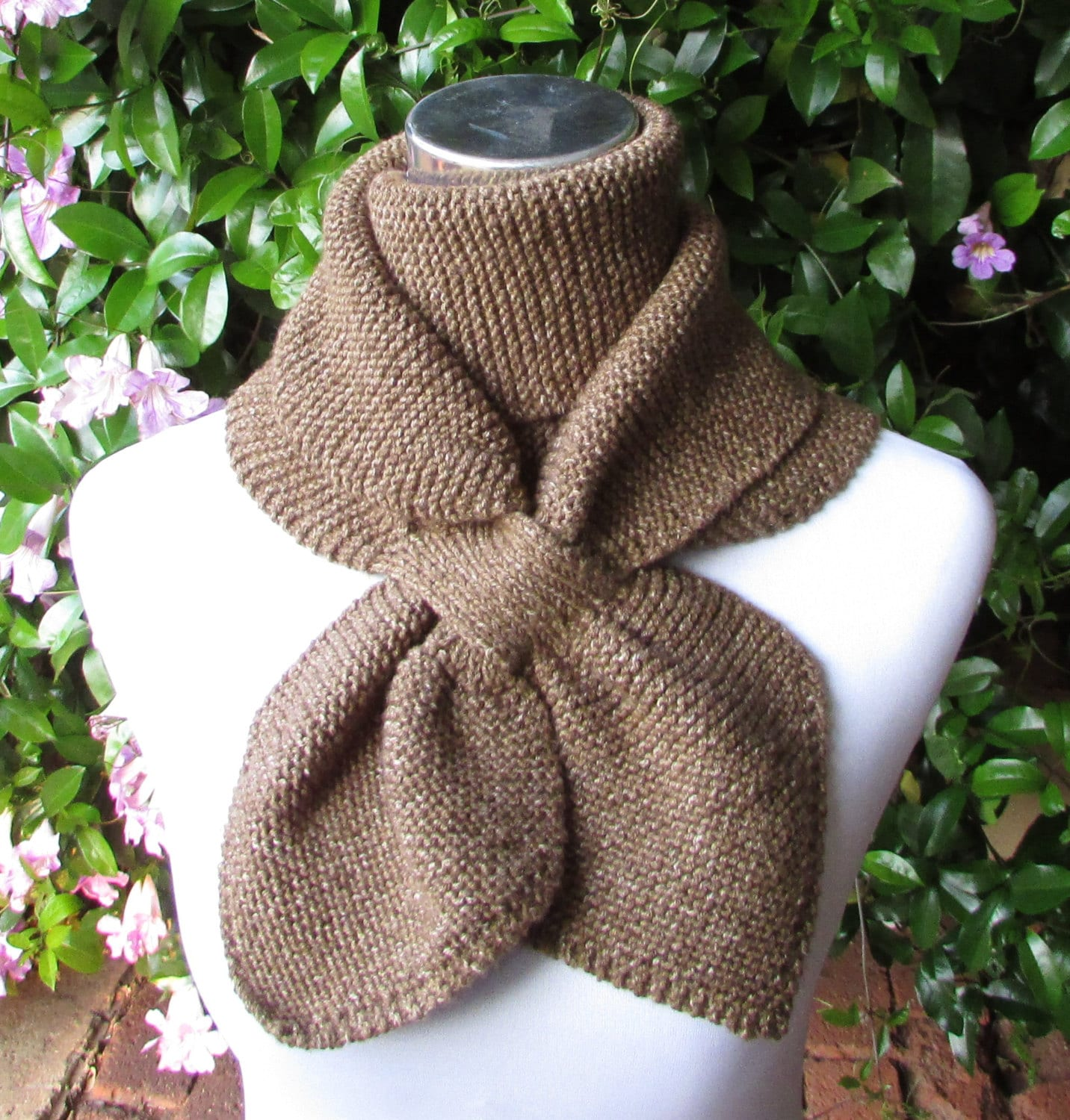 Keyhole Scarf Knitting Pattern Double Loop Keyhole Scarf - Knitted ...