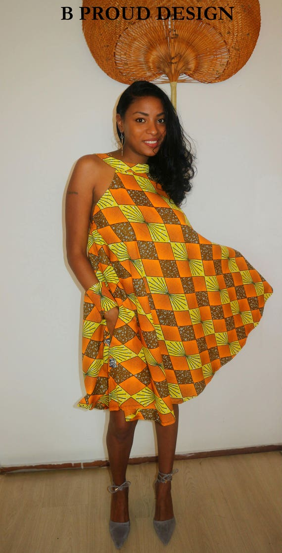 ANKARA MINI DRESS