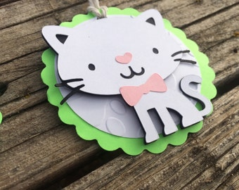 Kitten Gift Tags - Party Favors, Baby Shower, Cat Party