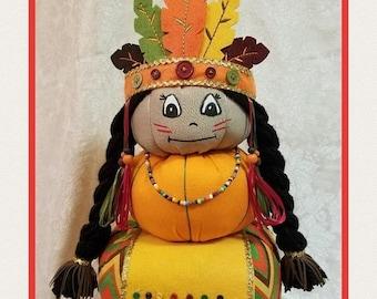 ON SALE 15% OFF Indian Pumpkin Stacker, Thanksgiving Centerpiece, Indian Centerpiece, Indian Decor, Thanksgiving Decor, Pumpkin Stacker, Fal
