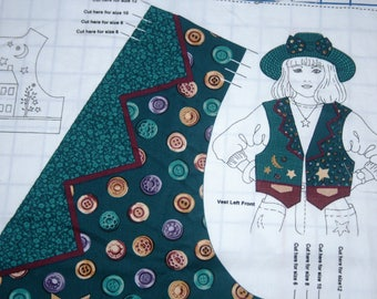 Starry Night Child's  Hat & Vest Fabric Panel
