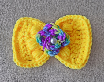 Crochet bow ties for pets, handmade bow ties for cats and dogs,floral bow ties.
