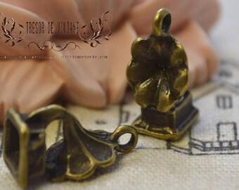 set of 10 QKA040, bronze pendant, Gramophone, music