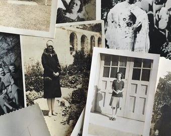WOMEN | Mystery Lot of Original Antique Black and White Photographs | Instant Collection | Quanity : 25