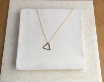 Gold Triangle Necklace - Gold Necklace - Geometric Necklace - Geometric Jewelry - Minimalist Necklace - Dainty Necklace - Delicate Necklace
