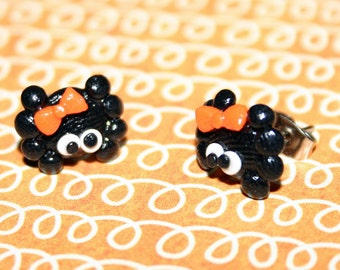Cute Spider Polymer Clay Earrings
