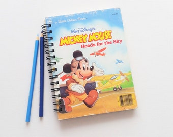 Mickey Mouse, Recycled Little Golden Book Journal