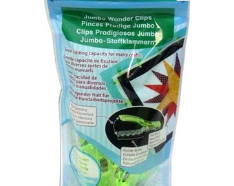 Clover Neon Green Jumbo Wonder Clips 3182 Brand New In Package 24 Pieces Free Shipping - Sale