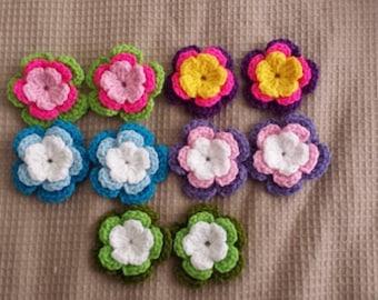 10 pcs handmade crochet flower appliques