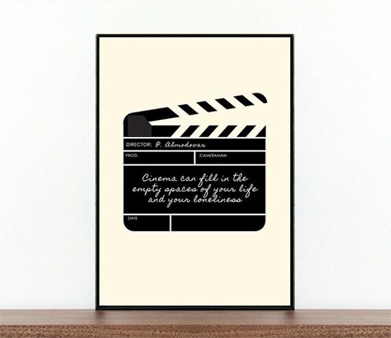Pedro Almodovar Filmplakat Filmklappe Film Zitat
