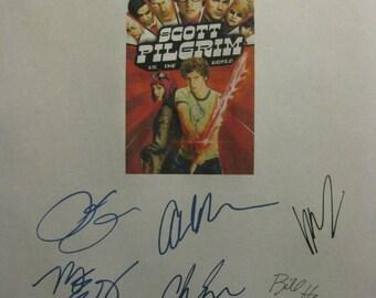 Scott Pilgrim VS the World Signed Film Movie Screenplay Script X12 Autographs Michael Cera Chris Evans Alison Pill Anna Kendrick Brie Larson