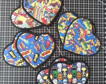 "I ""Heart"" Superhero Potholders"