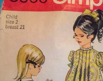 Vintage girls dress pattern size 2