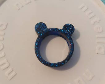 Blue Teddy Bear Ring